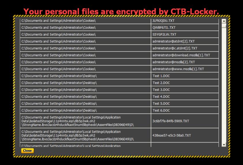 CIRCL » TR-33 Analysis - CTB-Locker / Critroni